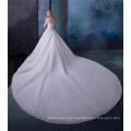 Off épaule mariée robe de mariée en dentelle à l'arrière