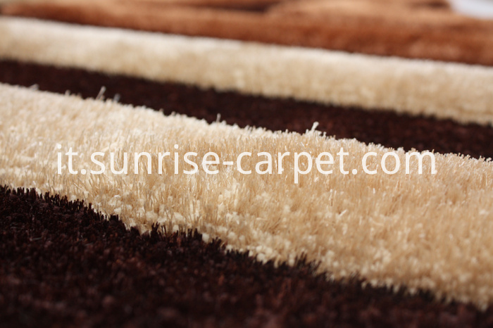 3d Shagy Rug with Mordern Design Brown Color