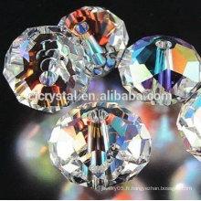 Perles de murano en verre rondelle en gros chauds, perles de rondelle en cristal, perles