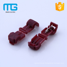 Red color auto electrical brass quick wire splice connector with PP insulation sleeve ,CE approval