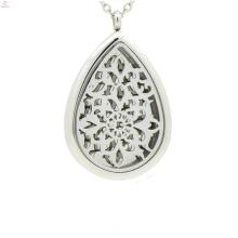 Gota de água pingente medalhão de aço inoxidável magnético, sólido perfume filigrana gaiola medalhão pingentes