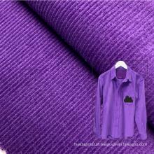 Atacado soft touch 16 wale 210GSM roxo 100% tecido de veludo de algodão tecido para camisas masculinas