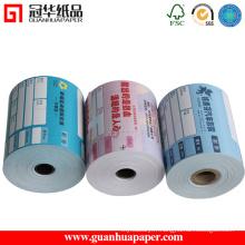 Rouleau de papier thermique certifié ISO 76mm, 80mm pour POS