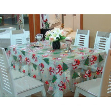 Pano de mesa de padrão de natal, capa de tabela de PVC