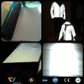 tela reflectante de plata de poliéster elástico de alta visibilidad