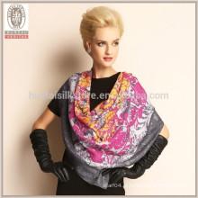 HQ 100% lã cachecol fazer de lenço de lã pura