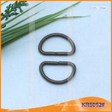 Tamaño interior 20mm Metal Hebillas, Regulador de metal, Metal D-Ring KR5052