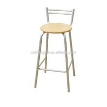 Высокий барный стул, стальная трубка Металлический стул для спинки для продажи