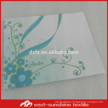 eco-friendly,custom full colors logo printed polyester sanded microfiber fabric cleaning cloth