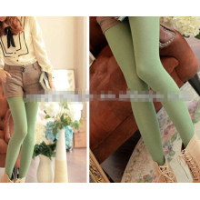 Lady green plain tight 2014 hot selling lady tights