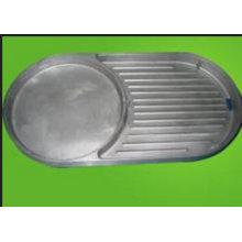 OEM алюминиевый сплав литья под давлением части для барбекю плита