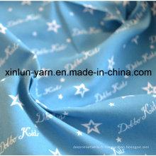 Tissu d'impression de bande dessinée bleue d'étoile de Partysu pour la robe / feuille