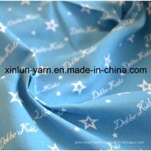 Partysu Blue Star Cartoon Printing Fabric for Dress/Sheet