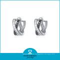 Pendiente de lujo de plata de la boda 925 con buena galjanoplastia (E-0072)