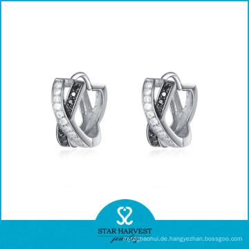 Hochzeit 925 Silber Fancy Fashion Ohrring mit guter Beschichtung (E-0072)