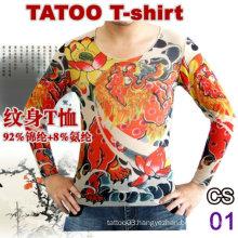 2016 hot sale skin t-shirt tattoo style