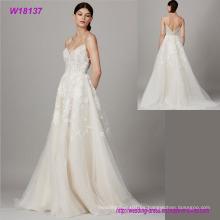 Diseño especial para vestido de novia de la venta caliente Vestido de novia de encaje de granadina de la manera