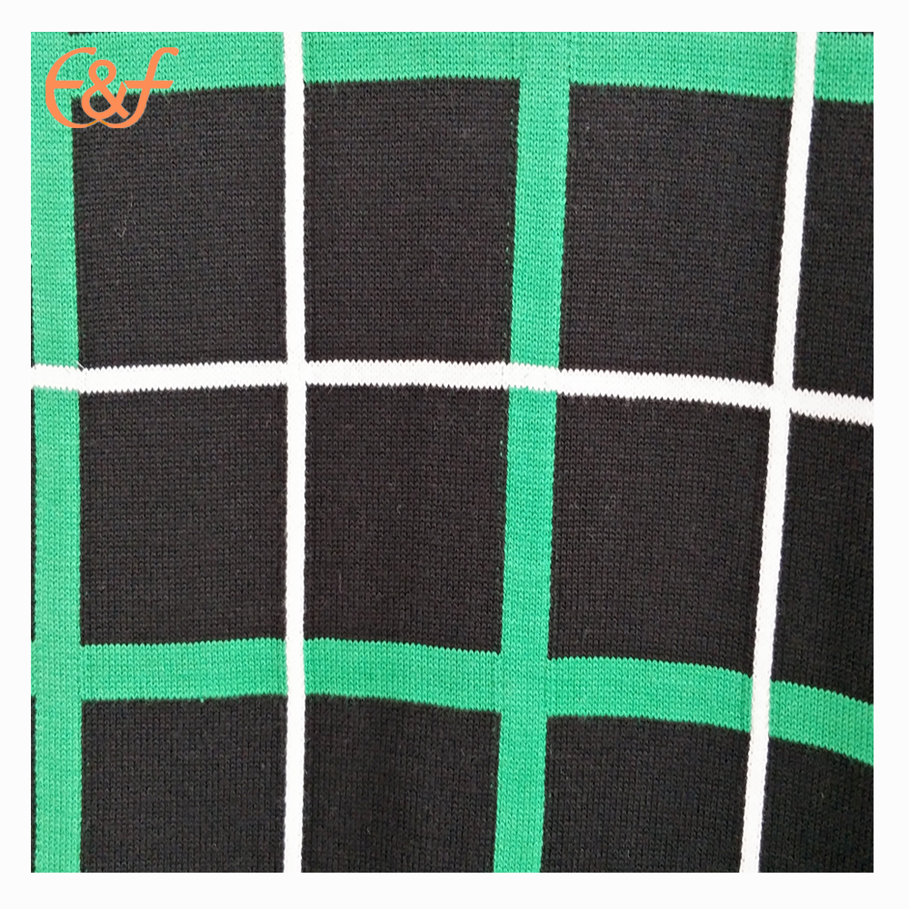 Checked pattern sweater