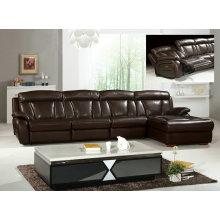 Black Coffee Leather Furniture Recliner Sofa (Y980)