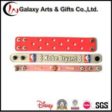 Personalizado por encargo los niños pulseras de silicona para decoración