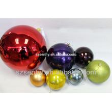 Decoração de bolinhas de Natal com bolas de plástico personalizadas