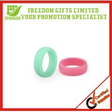 Anéis de casamento de dedo de borracha de silicone de alta qualidade