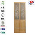 Wood Glass Walls Interior Folding Double Door