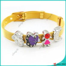 Diy breloques Charms Bracelet en acier inoxydable (B16041923)