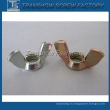 Color Zinc Pated ala cuadrada Tipo (DIN314) Wing Nut