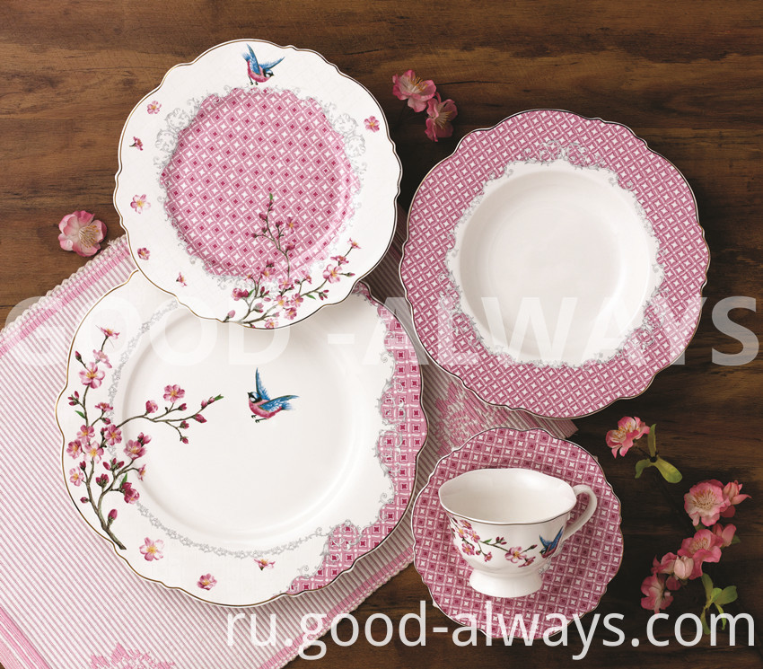 Nbc 747 New Bone China Tableware Set Garden Bird