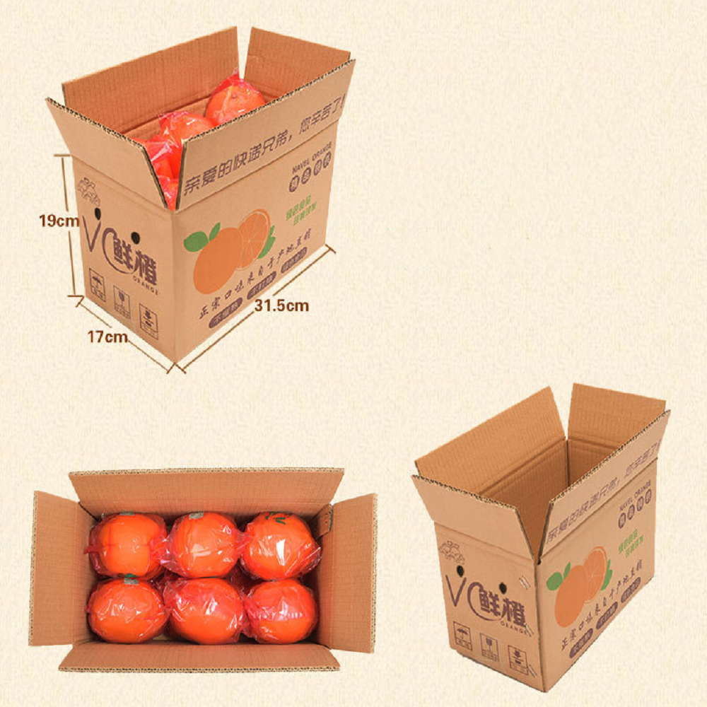 Orange carton packing size