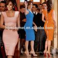 Mulheres de alta qualidade elegante 2017 mais recente projeto de cetim vestido de escritório