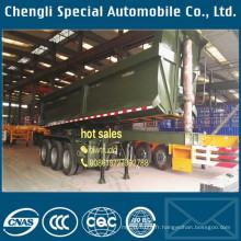 U forme 3 essieux 40 tonnes remorque de camion à benne basculante