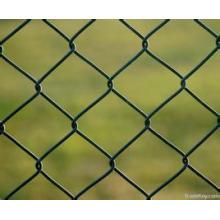 Cerca do elo de corrente revestida do PVC para o jardim zoológico, cerca líquida da máscara