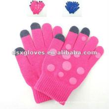 Luvas de tricô de tela de toque