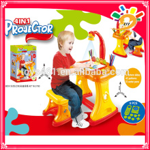 kids learning table projection drawing desk magnetic drawing board