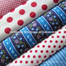 Tissu 100% coton tissé / sergé 2 / 1- Pantalon, drap de lit, oreiller, housse de canapé