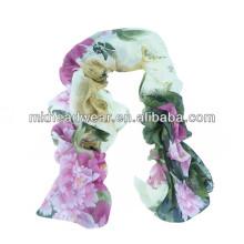 Écharpe multicolore multicolore en tissu de viscose