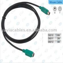 Cable de extensión PS / 2 de alta calidad para teclado / ratón