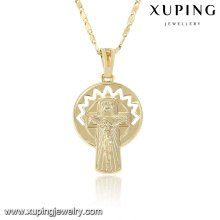 32758 xuping jewelry new style14k fake gold long pendant