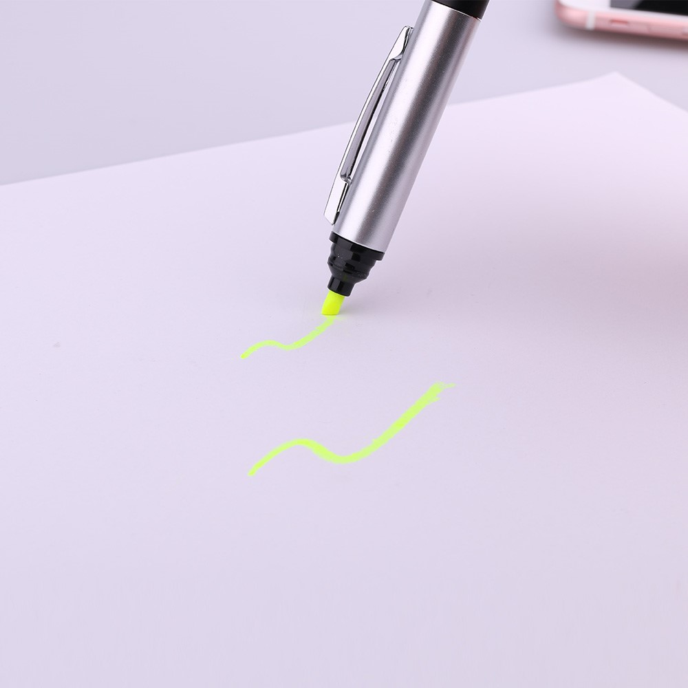 Promotional Wonder Plastic Touch Ball Pen with Highlighter