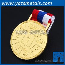 Personalize medalhas de metal de design com fita