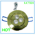 3*1W Cut Hole 70mm LED Cabinet Down Light in Office/Bedroom/Jewelry Store