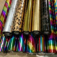 Envoltura de regalo de colores DIY Metalizado de papel de cartón de papel metálico