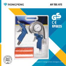 Rongpeng R8825 3PCS Kits d'accessoires pour outils pneumatiques Kits de pistolets de pulvérisation