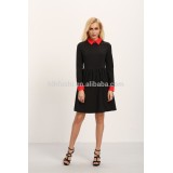 clothing manufacturer china 2016 autumn long sleeve wing collar dresses for women elegant
