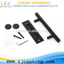 barn door carbon steel handle / black door handle