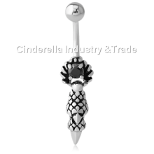 Surgical Steel Kool Katana Belly Rings Indian Tribe