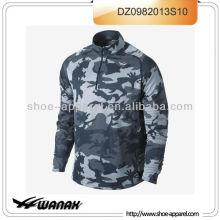 Wholesale camuflagem camisa de corrida para homens