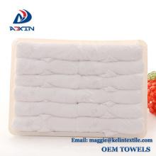 Vente chaude 100% coton éponge serviette jetable dans le plateau Vente chaude 100% coton éponge serviette jetable dans le plateau
